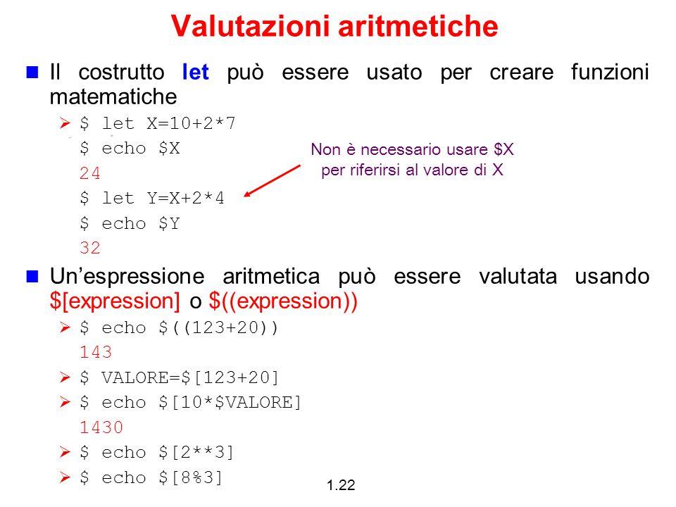 Valutazioni aritmetiche
