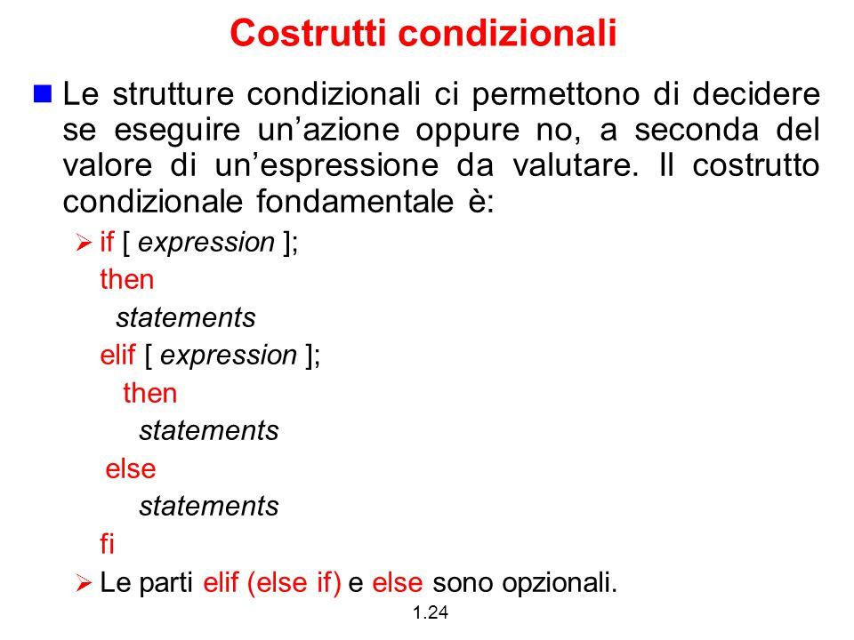 Costrutti condizionali