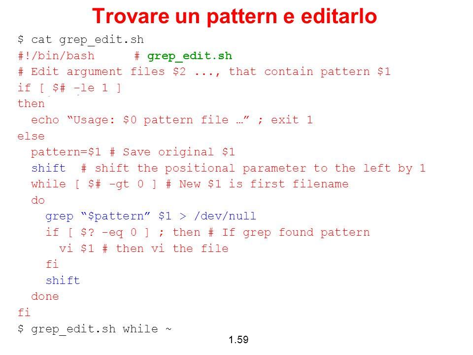 Trovare un pattern e editarlo
