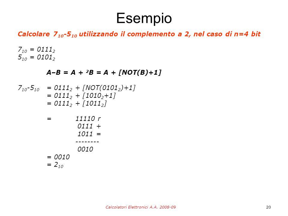 Calcolatori Elettronici A.A. 2008-09