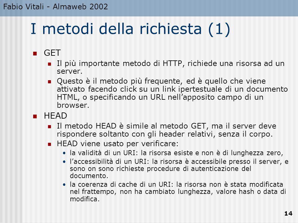 I metodi della richiesta (1)