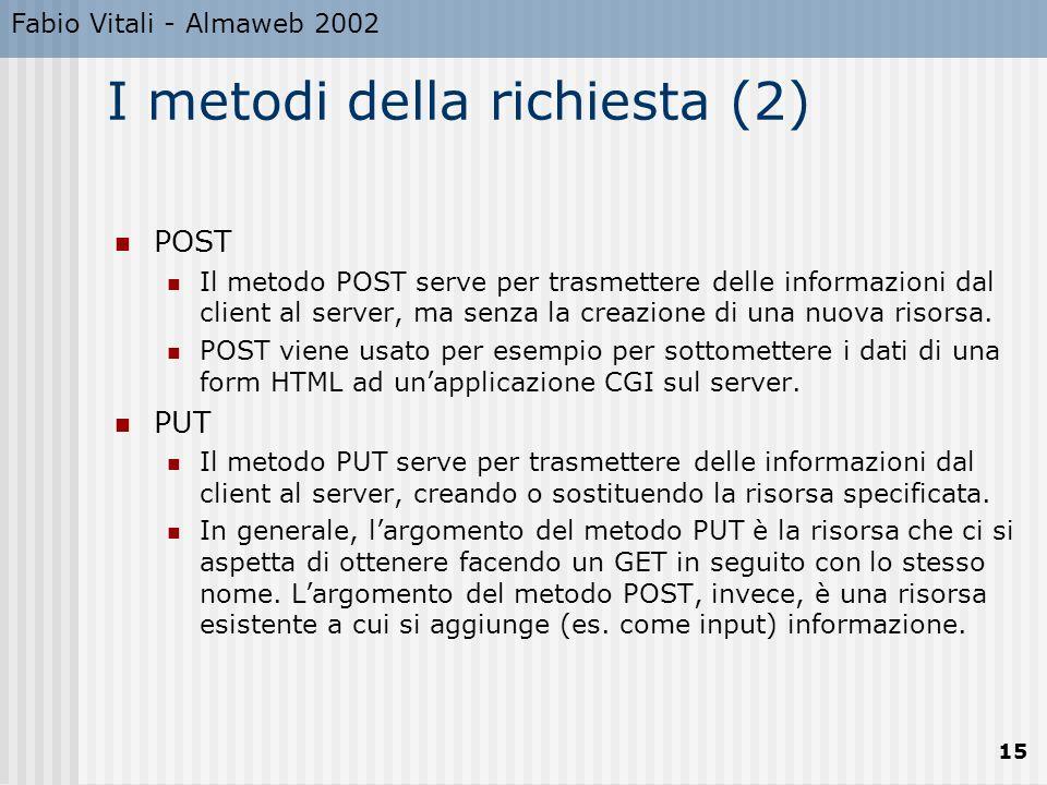 I metodi della richiesta (2)