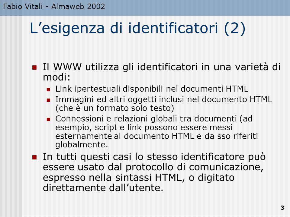 L'esigenza di identificatori (2)
