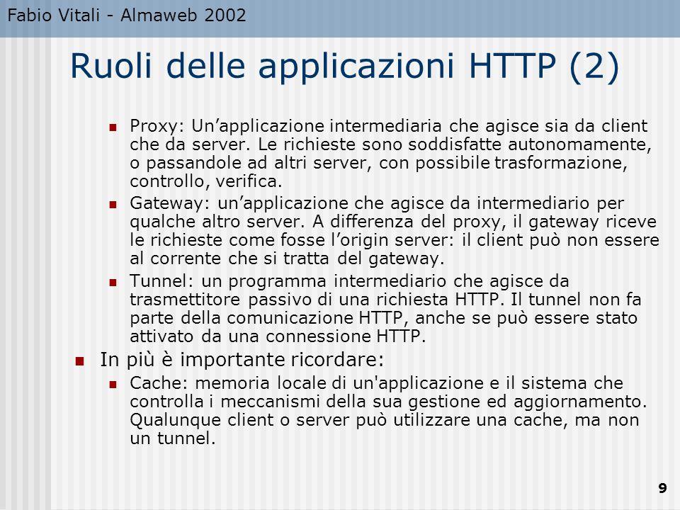 Ruoli delle applicazioni HTTP (2)