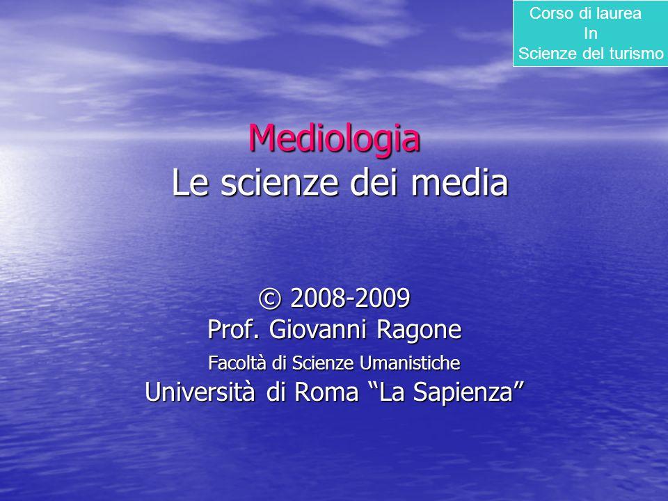 Mediologia Le scienze dei media