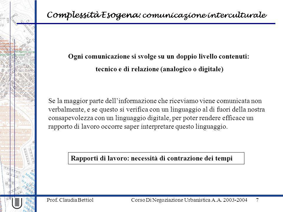 Ogni comunicazione si svolge su un doppio livello contenuti: