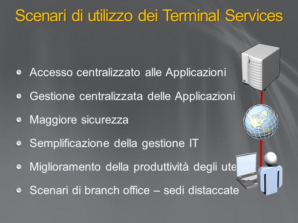 Scenari di utilizzo dei Terminal Services