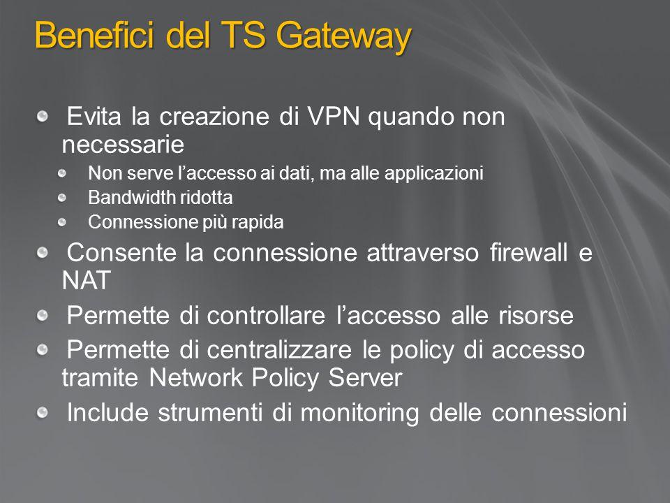 Benefici del TS Gateway