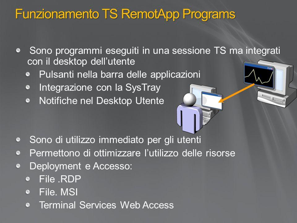Funzionamento TS RemotApp Programs
