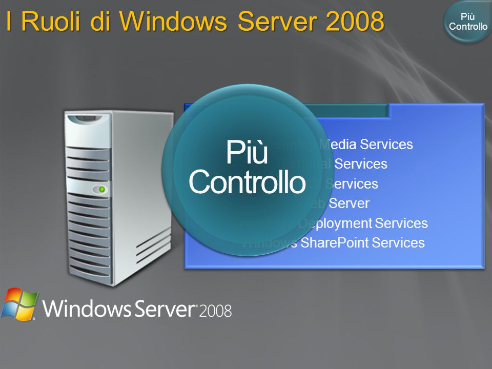 Più Controllo I Ruoli di Windows Server 2008 DHCP Server DNS Server