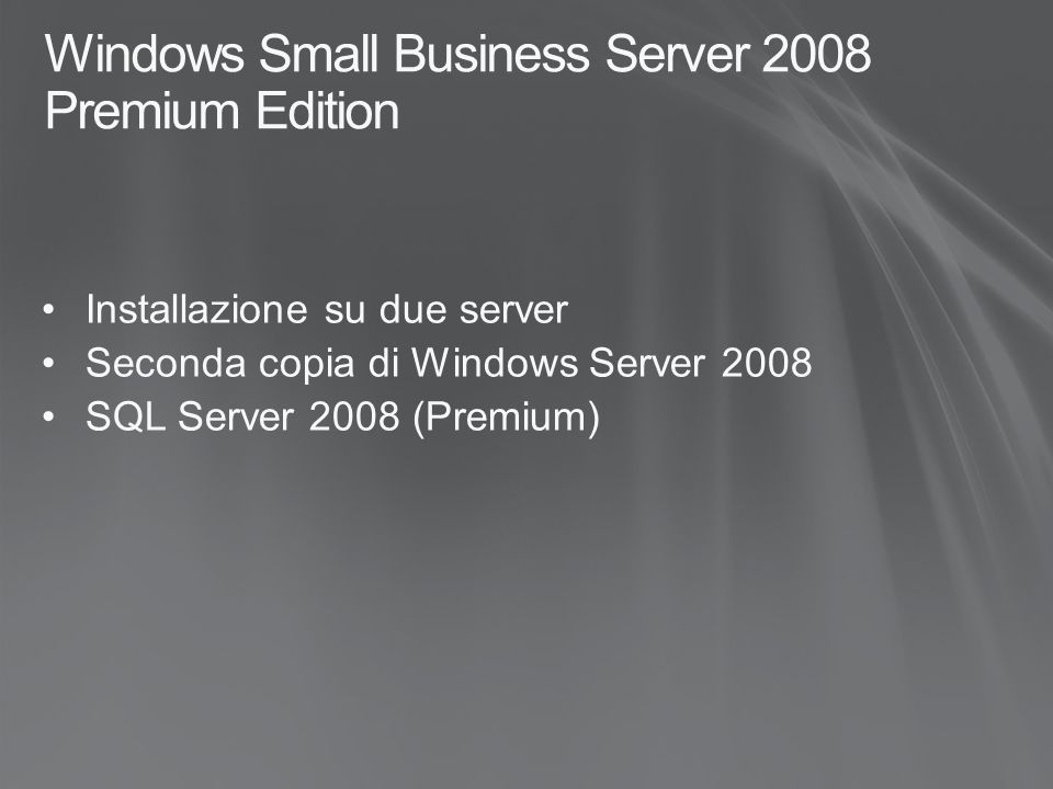 Windows Small Business Server 2008 Premium Edition