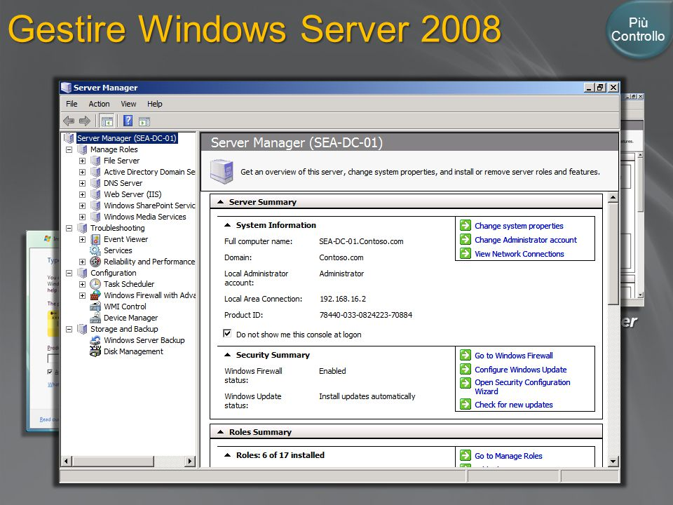 Gestire Windows Server 2008