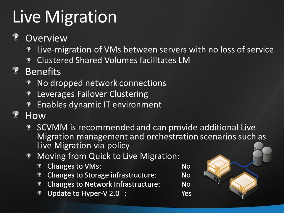 Live Migration Overview Benefits How