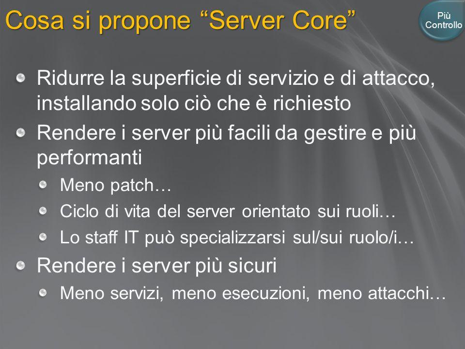 Cosa si propone Server Core