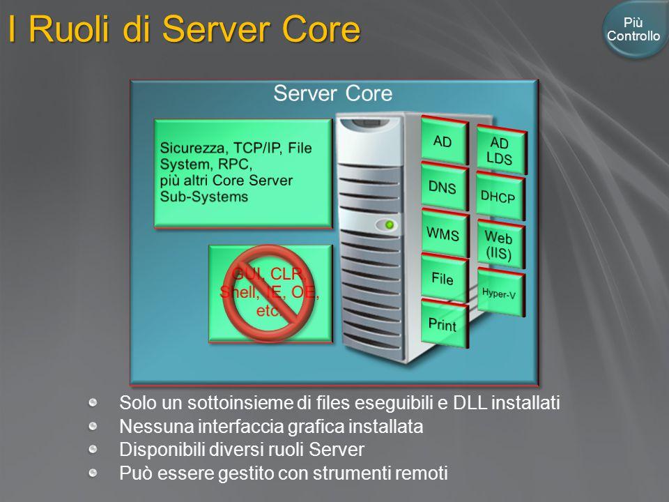 I Ruoli di Server Core Server Core