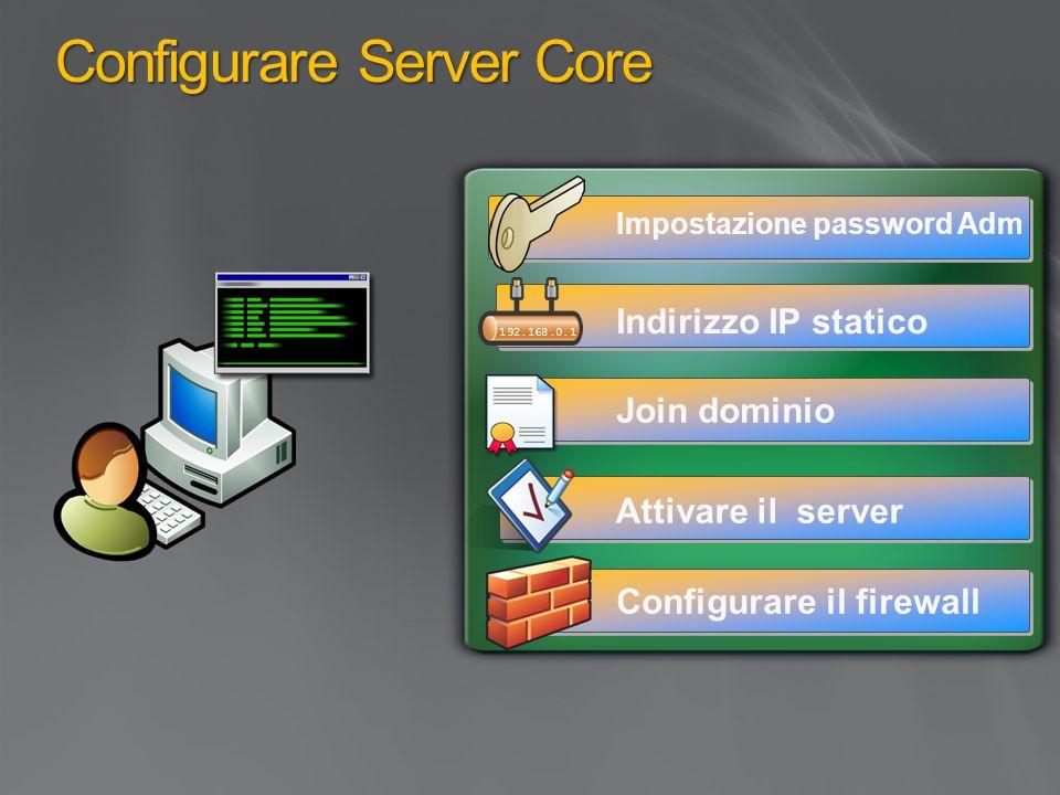 Configurare Server Core