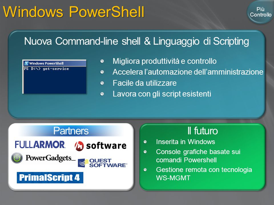 Nuova Command-line shell & Linguaggio di Scripting