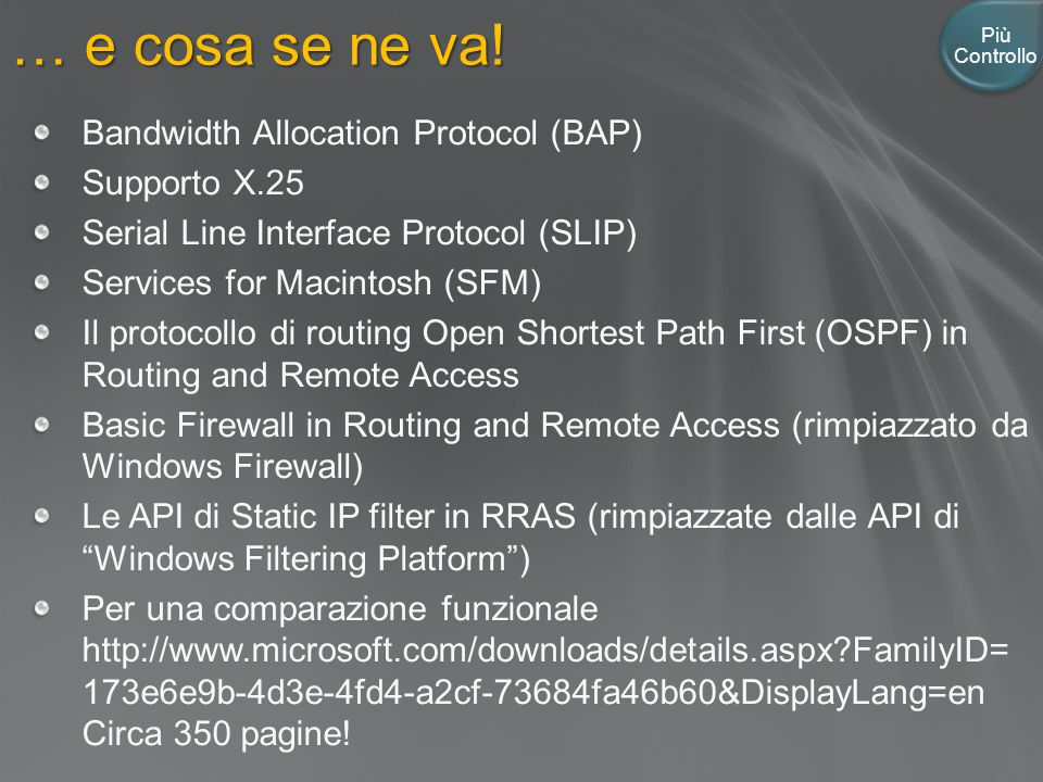… e cosa se ne va! Bandwidth Allocation Protocol (BAP) Supporto X.25
