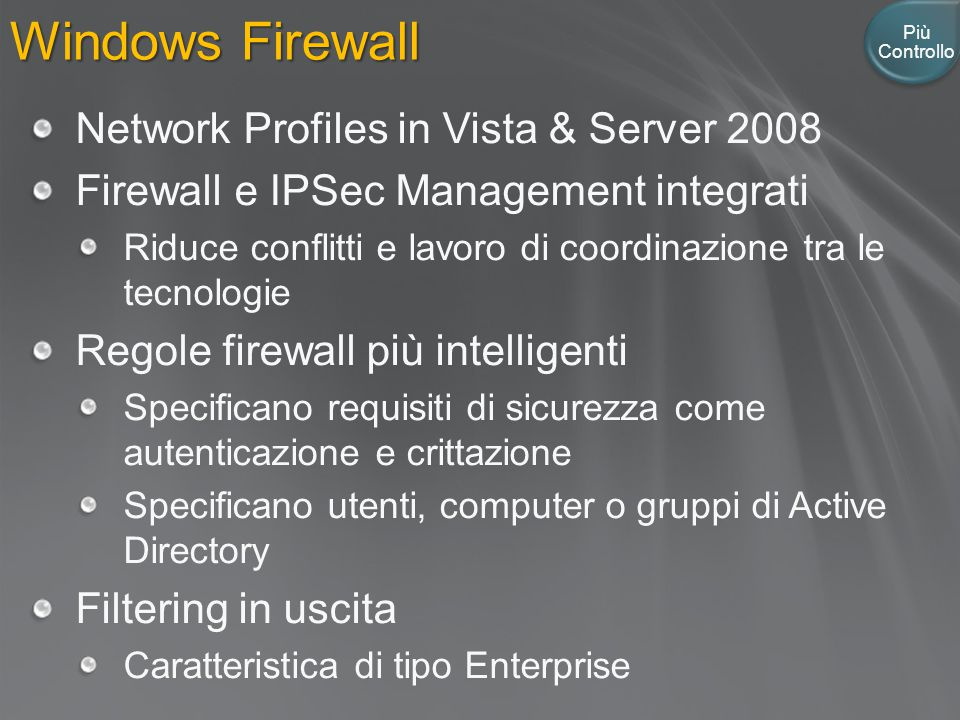 Windows Firewall Network Profiles in Vista & Server 2008