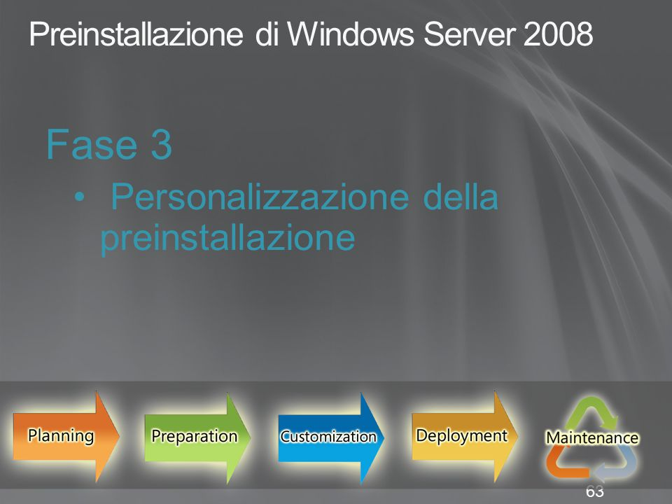 Preinstallazione di Windows Server 2008