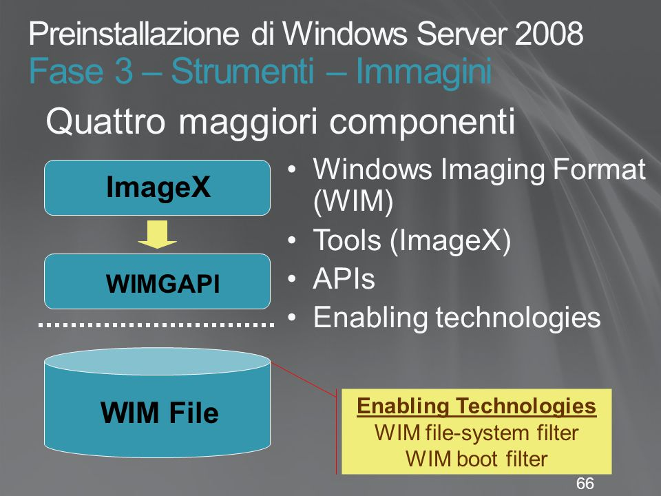 Preinstallazione di Windows Server 2008 Fase 3 – Strumenti – Immagini