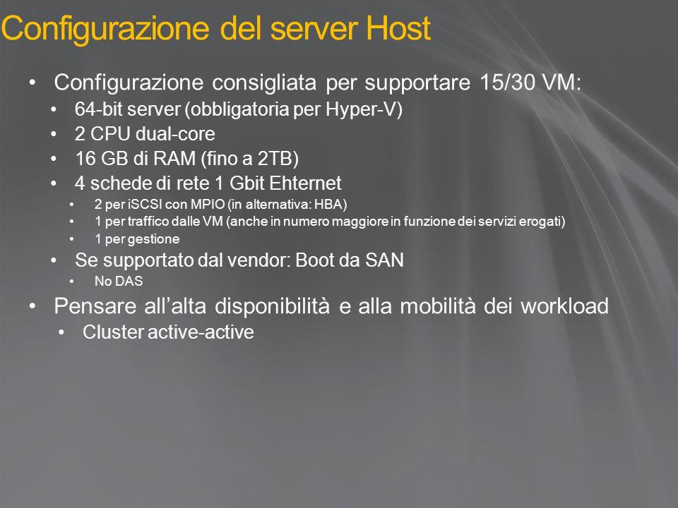 Configurazione del server Host