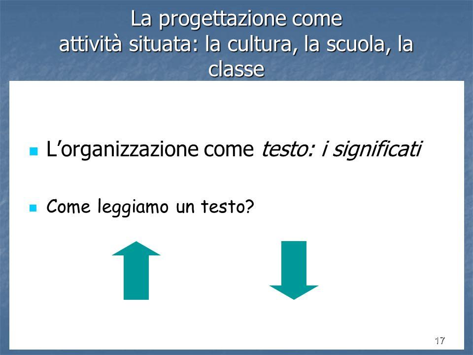 L'organizzazione come testo: i significati