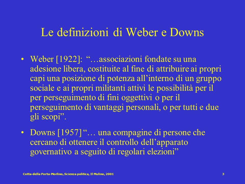Le definizioni di Weber e Downs