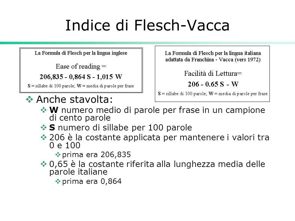 Indice di Flesch-Vacca