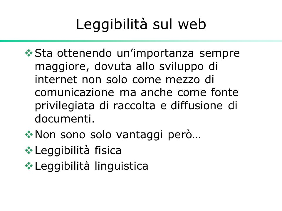 Leggibilità sul web