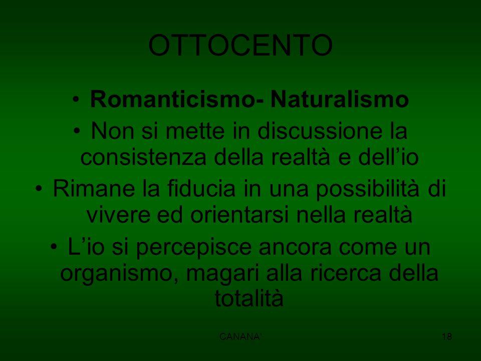 Romanticismo- Naturalismo
