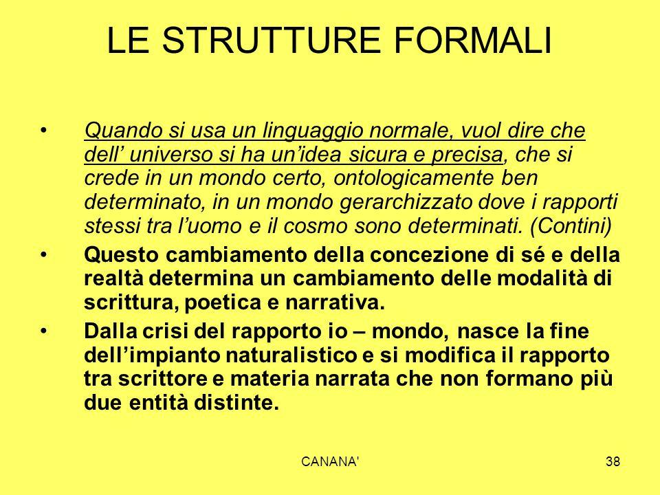 LE STRUTTURE FORMALI