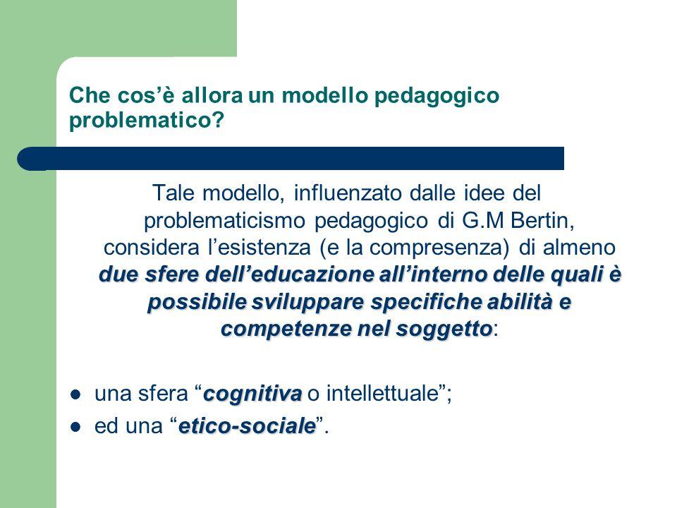 Che cos'è allora un modello pedagogico problematico