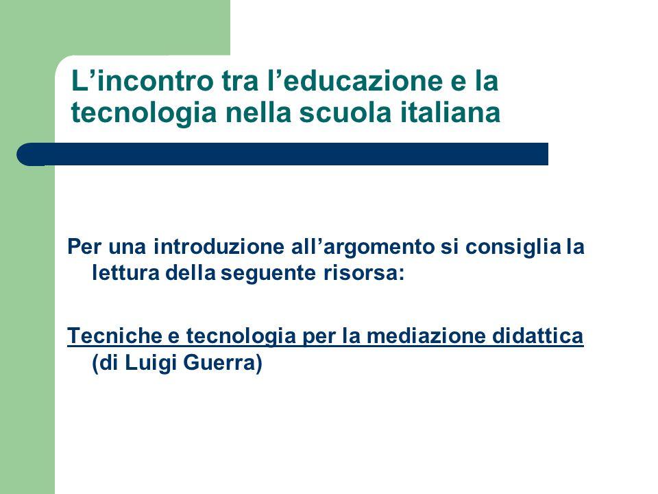 L'incontro tra l'educazione e la tecnologia nella scuola italiana