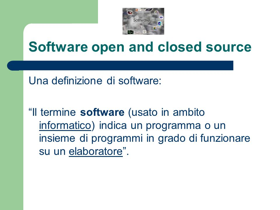 Software open and closed source