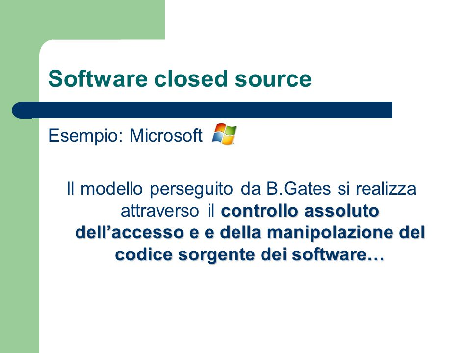 Software closed source