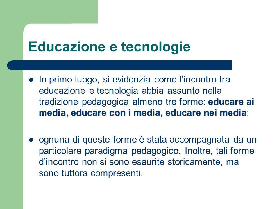 Educazione e tecnologie