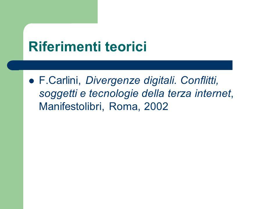 Riferimenti teorici F.Carlini, Divergenze digitali.
