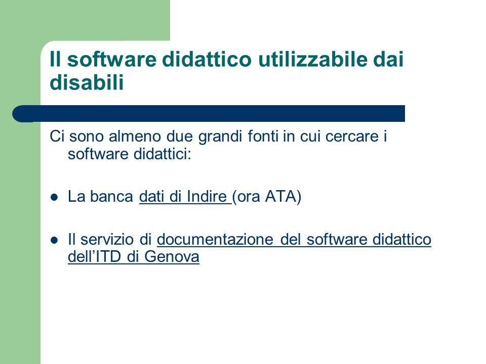 Il software didattico utilizzabile dai disabili