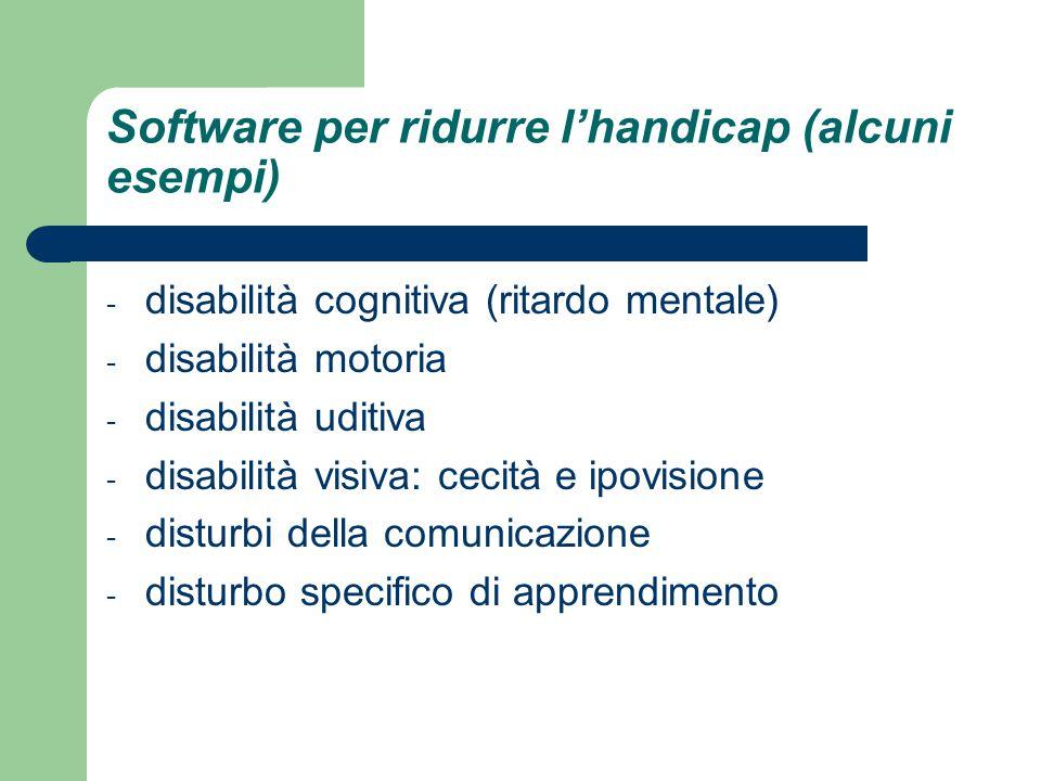Software per ridurre l'handicap (alcuni esempi)
