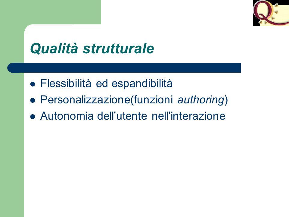 Qualità strutturale Flessibilità ed espandibilità