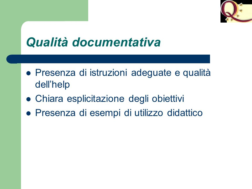 Qualità documentativa