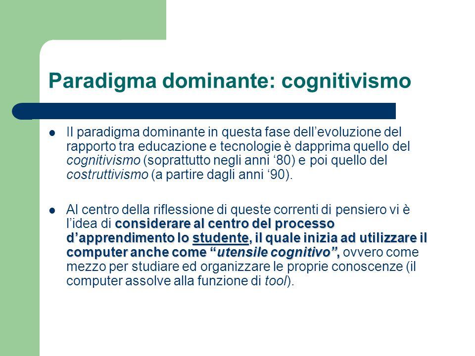 Paradigma dominante: cognitivismo