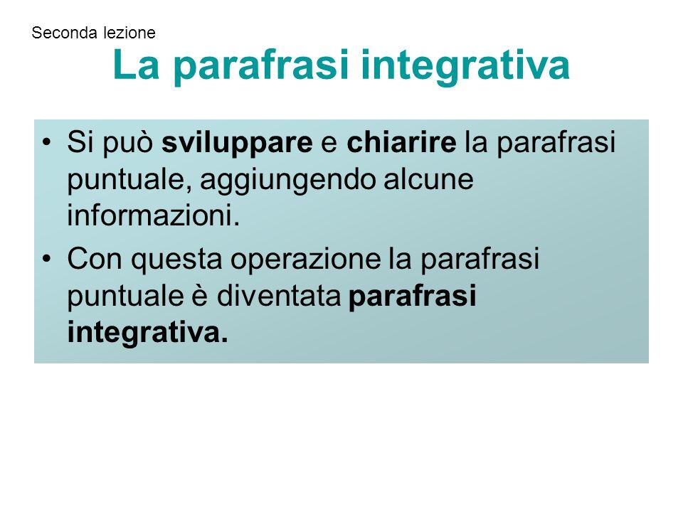 La parafrasi integrativa