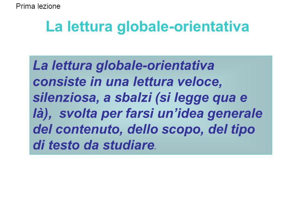 La lettura globale-orientativa