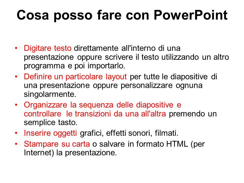Cosa posso fare con PowerPoint