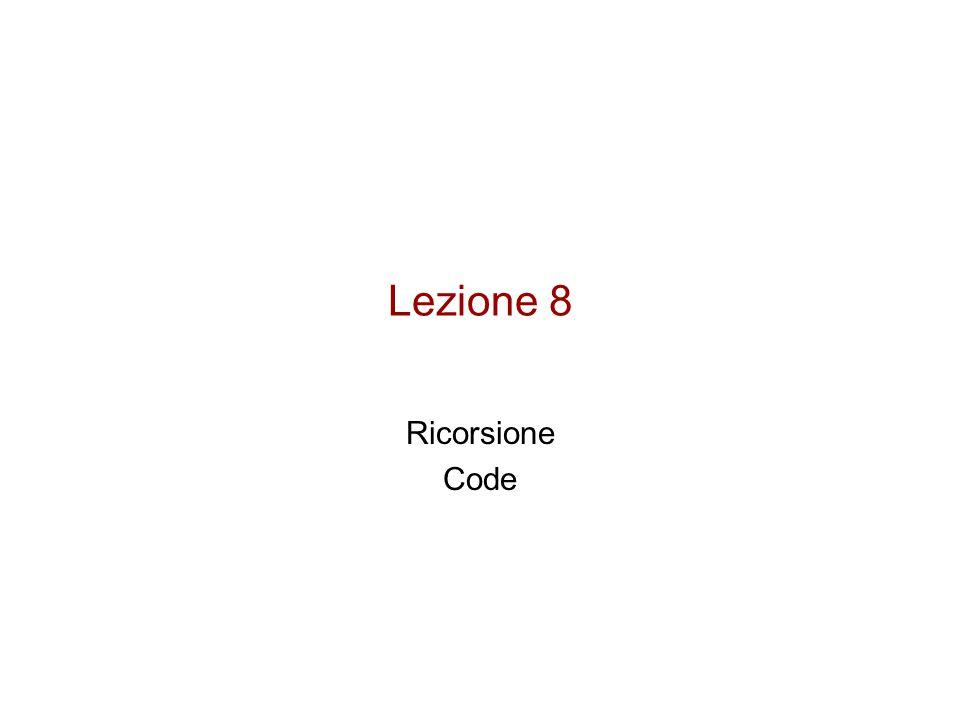 Lezione 8 Ricorsione Code