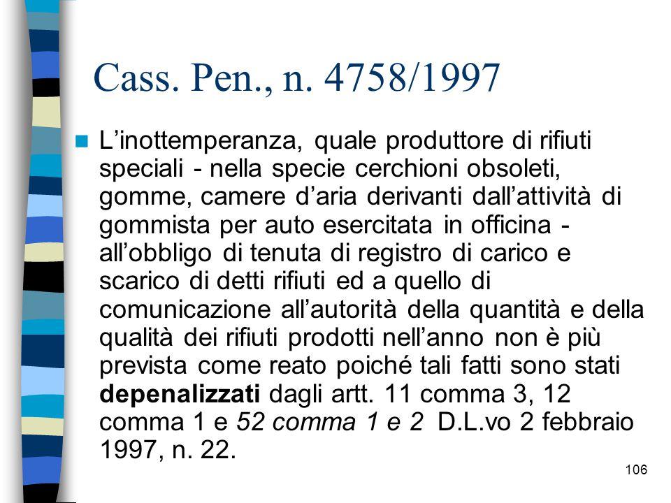 Cass. Pen., n. 4758/1997