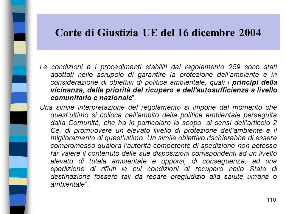 Corte di Giustizia UE del 16 dicembre 2004