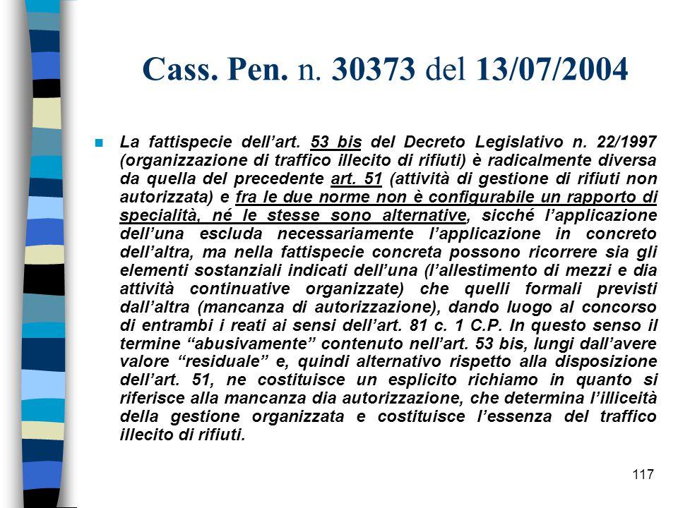 Cass. Pen. n. 30373 del 13/07/2004